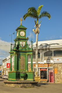 Clock Tower Basseterre St. Kitts West Indies