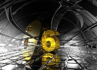 nummer sechs in futuristischer umgebung - 3d illustration