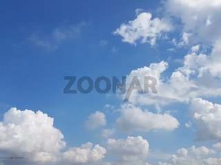 Low angle view of clouds computing with blue sky background