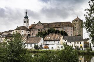 Stadtbild  Neunburg  vorm Wald am Fluss Schwarzach