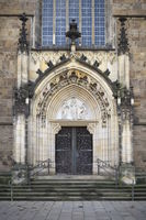 Bremen - Bride portal at Bremen Cathedral, Germany
