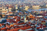 Panoramic view from Prague, Czech Republic