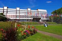 Europarat Gebäude in Strassburg - Council of Europe building in Strasbourg