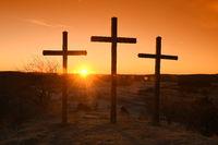 crosses, christian, sunrise,
