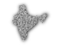 Karte von Indien auf Mohn - Map of India on poppy seeds