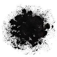 Stain of spilt black paint