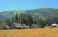 Dairy hut on the Chocholowska Clearing, West Tatra, Poland