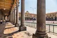 Piazza Garibaldi In Allesanria, Italy.