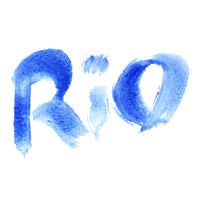 Watercolor word Rio