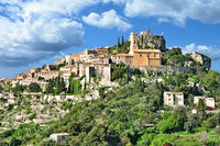 medieval Village of Èze at french Riviera,Cote d`Azur,South of France