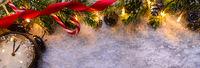 Christmas fir tree with lights