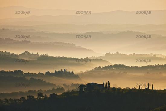 View from San Gimignano, Tuscany, Italy