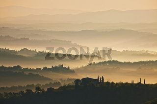 Blick von San Gimignano, Toskana, Italy