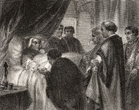 Death of Pope Eugene IV, 1383 – 23 February 1447, was Pope from 3 March 1431 to 1447