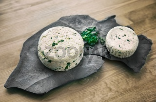 Fresh cheese with herbs
