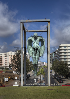 THE HANGING ANGEL STATUE, FUNCHAL
