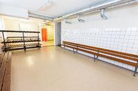 Dutch group dressing room on secondary school