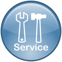 Service-Button (blau)
