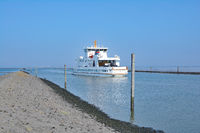 Ferry to Norderney from Norddeich,North Sea,East Frisia,lower Saxony,Germany
