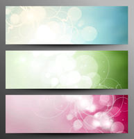 Set Of Light Festive Banners