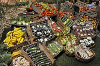 verschiedene Obstsorten,  Gemuesesorten auf der gruenen Woche in Berlin