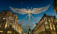 Christmas Lights Display on Regent Street, London
