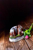delicious chocolate spring cake