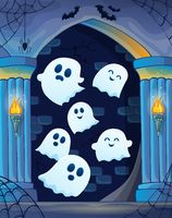 Ghosts in haunted castle theme 4
