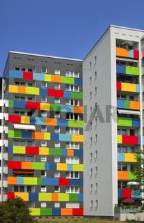 Farbenfrohe Fassadengestaltung Dresden, Sachsen