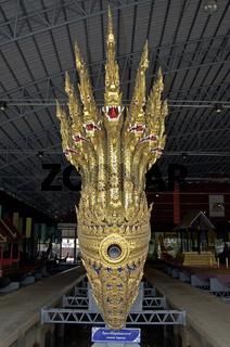 historische Koenigliche Barken im Barkenmuseum, Bangkok, Thailand