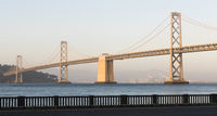 Panoramic Composition Bay Bridge San Francisco California Transportation