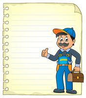 Notepad page with plumber