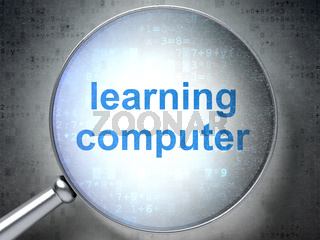 Learning concept: Learning Computer with optical glass