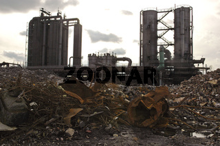 Compound of the former coking plant Hansa with iron scrap
