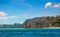 Scenic tropical island landscape, Coron, Palawan, Philippines