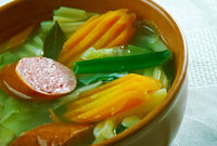 German soup with savoy cabbage