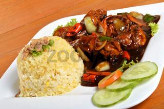 Nasi lemak, Asian traditional rice meal