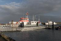 Navigation Mark Harbor on North Frisian Island Amrum in Germany