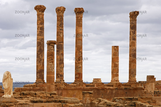 Ruins of the Flavius Tuilus Fountain, Sabratha,Libya