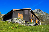 House of a farmer in the mountains, Uri Alps, canton of Bern, Switzerland