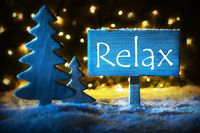 Blue Christmas Tree, Text Relax