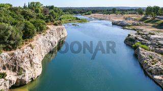 valley of Gardon River near Pont du Gard