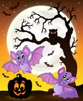 Halloween theme with bats 1