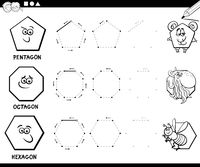 draw geometric shapes coloring page
