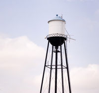Rural County Water Tower City Infrastructure Public Utility