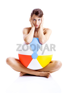 Beach ball girl