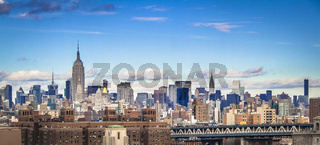 New York City, midtown Manhattan skyline.