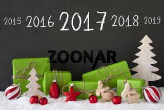 Christmas Decoration, Cement, Snow, Timeline 2017