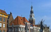 Tower of the Weighing Building, Waaggebäude, Waaggebouw, in the old town of Alkmaar, Netherlands