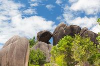 rocks on seychelles island